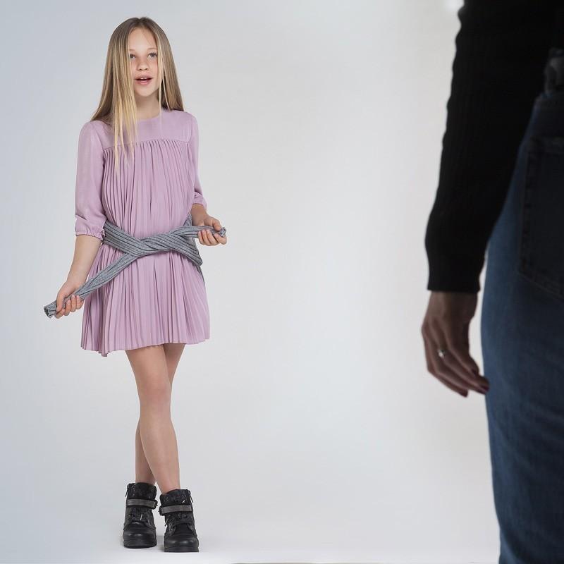 Sukienka plisowana dziewczęca Mayoral 7962-37 Różowy