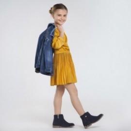 Sukienka satynowa dla dziewczynek Mayoral 7968-69 Musztardowa
