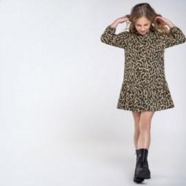 Sukienka wzorzysta dziewczęca Mayoral 7969-2 Zielona