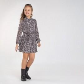 Sukienka z nadrukiem dla dziewczyn Mayoral 7972-15 Ołów