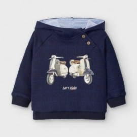 Bluza z kapturem dla chłopców Mayoral 2475-46 granat