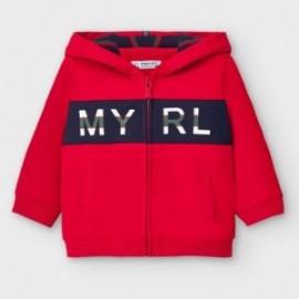Bluza rozpinana z kapturem dla chłopców Mayoral 2492-27 Czerwona