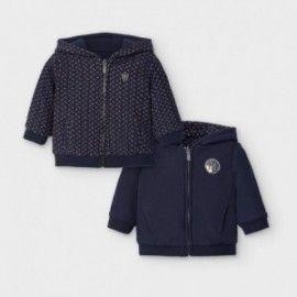 Bluza dwustronna z kapturem chłopiec Mayoral 2493-42 granat