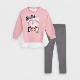 Komplel leginsy i bluzka dziewczynka Mayoral 4726-74 różowy