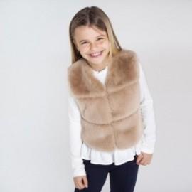 Kamizelka z futerkiem dla dziewczynki Mayoral 7336-70 beż