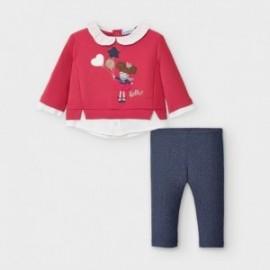 Komplet leginsy i bluza dziewczęcy Mayoral 2789-14 czerwony