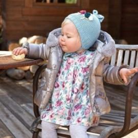 Sukienka z nadrukiem dla dzieci Mayoral 2957-21 Turkusowa