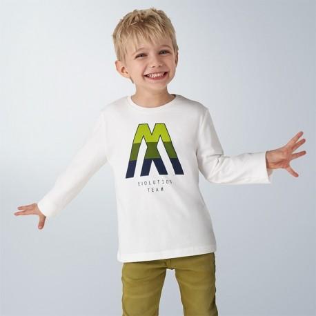 Koszulka z długim rękawem chłopięca Mayoral 4040-60 krem