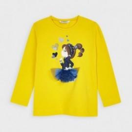 Koszulka z długim rękawem dziewczynka Mayoral 4070-51 żółty