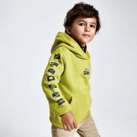 Bluza z kapturem kangurka chłopięca Mayoral 4459-42 zielona