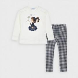 Komplet leginsy z bluzą dla dziewczynki Mayoral 4733-11 granat