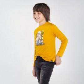 Koszulka chłopięca z długim rękawem Mayoral 7057-16 żółty