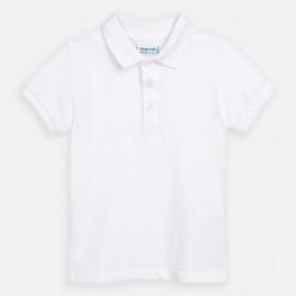 Koszulka polo dla chłopców Mayoral 150-91 Biała