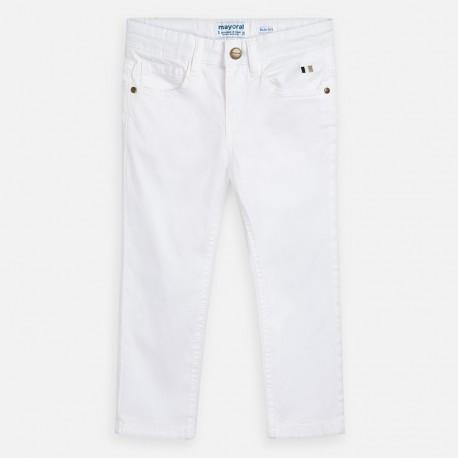 Spodnie gładkie dla chłopców Mayoral 509-11 Białe