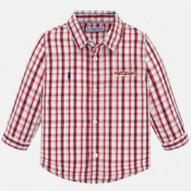 Koszula w kratkę dla chłopców Mayoral 1165-33 czerwona