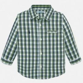 Koszula w kratkę dla chłopców Mayoral 1165-32 niebieska