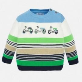 Sweter w paski dla chłopców Mayoral 1322-79 Lawendowy