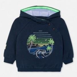 Bluza z kapturem dla chłopców Mayoral 1452-16 granatowy