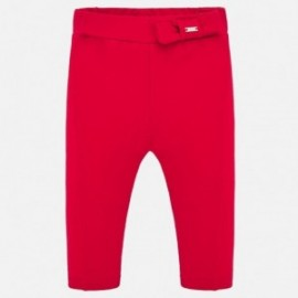 Spodnie bawełniane dla dziewczynek Mayoral 1556-91 Czerwone
