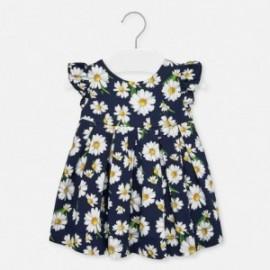 Sukienka w kwiatuszki dla dziewczynki Mayoral 1930-59 Granatowa
