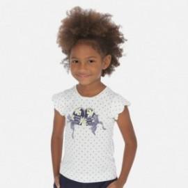 Koszulka w groszki dla dziewczynki Mayoral 3015-53 Biała/granat