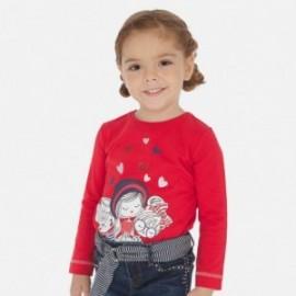Koszulka z nadrukiem dziewczęca Mayoral 3019-56 Czerwona