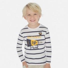 Koszulka w paski chłopiec Mayoral 3074-70 biała/żółta