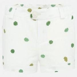 Szorty bawełniane dla chłopców Mayoral 1262-52 białe/zielone