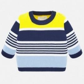 Sweter dzianinowy dla chłopców Mayoral 1319-85 żółty