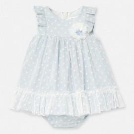 Sukienka z tiulem dla dziewczynki Mayoral 1872-77 niebieska