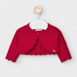 Sweterek dzianinowy dla dziewczynek Mayoral 307-54 Czerwony