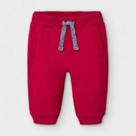 Spodnie dzianinowe dla chłopców Mayoral 719-29 Czerwone