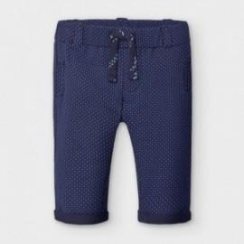 Spodnie długie bawełniane chłopięce Mayoral 2564-35 niebieskie