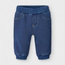 Spodnie dzianinowe dla chłopców Mayoral 2566-24 granat