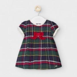 Sukienka w kratę dziewczęca Mayoral 2867-25 zielona/czerwona