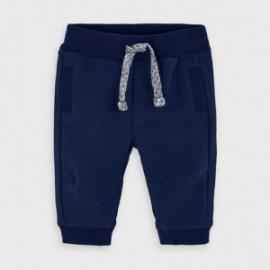 Spodnie dzianinowe dla chłopców Mayoral 719-30 granatowe