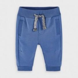 Spodnie dzianinowe dla chłopców Mayoral 719-31 niebieskie