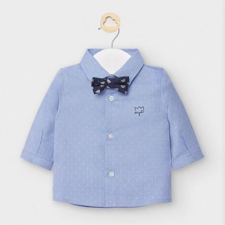 Koszula z muszką dla chłopców Mayoral 2119-32 błękitna