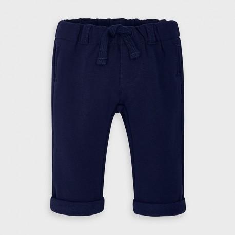 Spodnie długie bawełniane chłopięce Mayoral 2564-37 granat