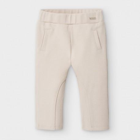 Spodnie dzianinowe długie dla dziewczynek Mayoral 2591-23 beżowe