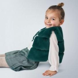 Kamizelka z futerkiem dla dziewczynki Mayoral 4351-10 turkusowa