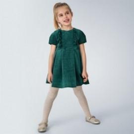 Sukienka aksamitna dla dziewczynek Mayoral 4972-91 turkusowa