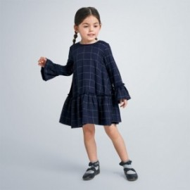 Sukienka w kratę dziewczynka Mayoral 4973-90 Granatowa