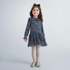 Sukienka w serduszka dziewczęca Mayoral 4975-90 Granatowa