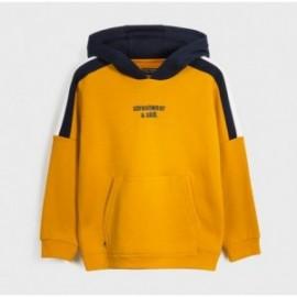 Bluza typu kangurka dla chłopców Mayoral 7458-71 żółta