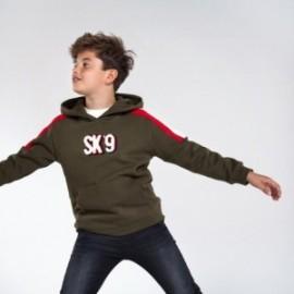 Bluza typu kangurka dla chłopców Mayoral 7458-70 Oliwkowa