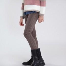 Spodnie długie dla dziewczynki Mayoral 7537-51 brązowe