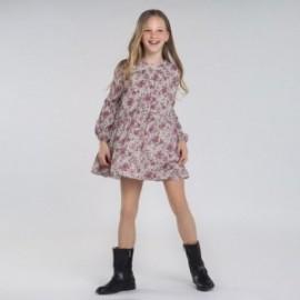 Sukienka w kwiatki dla dziewczyn Mayoral 7970-3 Różowa