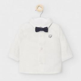 Koszula z muszką dla chłopców Mayoral 2119-31 Kremowa