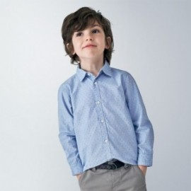 Koszula w drobny wzorek dla chłopców Mayoral 4143-38 Błękitna
